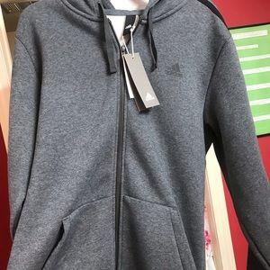 Adidas Grey Zip up Jacket, sz XLT